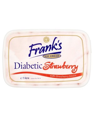 M3 Distribution Franks Diabetic Strawberry Swirl Ice Cream 1Litre