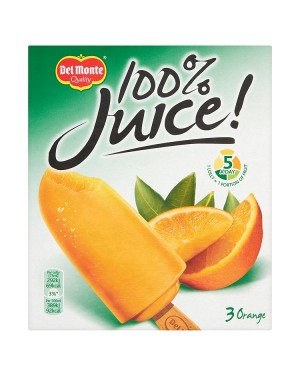 M3 Distribution Del Monte 100% Juice 3 Orange Ice Lollies