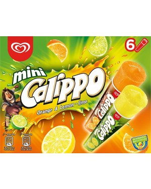 M3 Distribution Services Irish Food Wholesaler Walls Mini Calippo Orange & Lemon-Lime (6x6pack)
