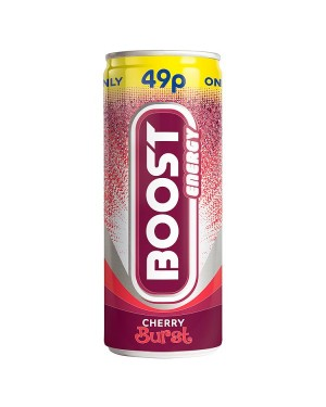 M3 Distribution Services Irish Food Wholesaler Boost Energy Cherry Burst PM49p (24x250ml)