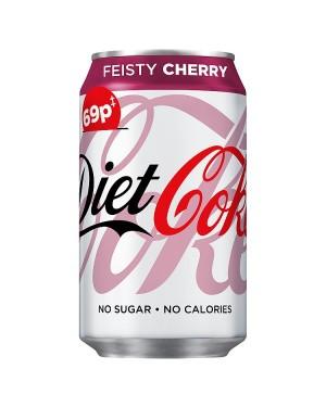 M3 Distribution Services Irish Food Wholesaler Coke Diet Fiesty Cherry PM69p  (12x500ml)