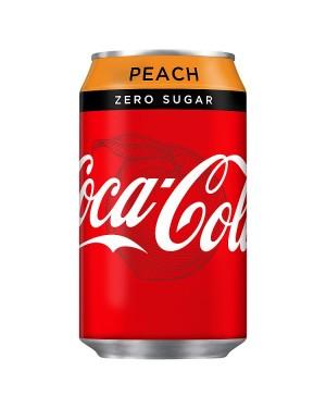 M3 Distribution Services Irish Food Wholesaler Coke Zero Peach PM55p (24x330ml)