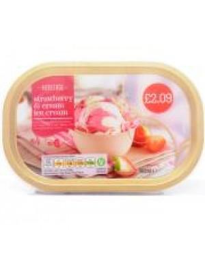 M3 Distribution Services Irish Food Wholesaler Heritage Strawberry & Cream Ice Cream PM£2.09 (8x900ml)