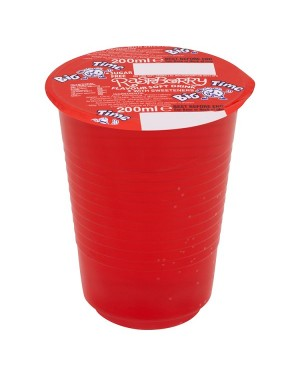 M3 Distribution Services Irish Food Wholesaler Big Time Cup Drink - Raspberry (24x200ml)