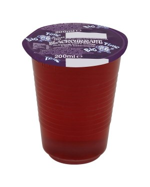 M3 Distribution Services Irish Food Wholesaler Big Time Cup Drink - Blackcurrant (24x200ml)