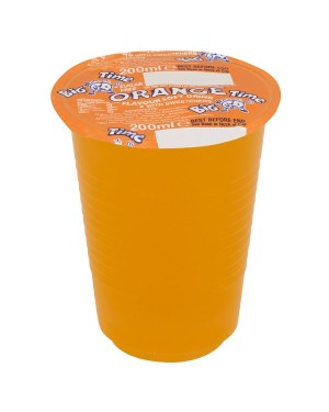 M3 Distribution Services Irish Food Wholesaler Big Time Cup Drink - Orange (24x200ml)