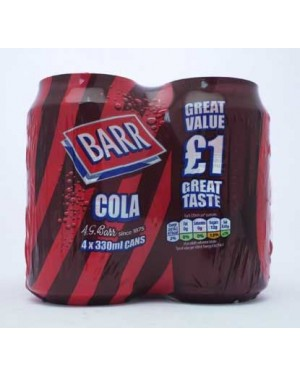 M3 Distribution Services Irish Food Wholesaler Barr Cola 4Pk PM£1 (6x4x330ml)