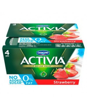 M3 Distribution Services Irish Food Wholesaler Danone Activia 0% Strawberry (6x4x125g)
