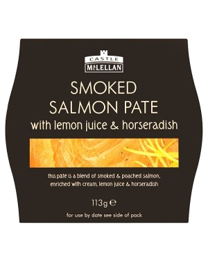 M3 Distribution Services Castle MacLellan Smoked Salmon Pate 113g