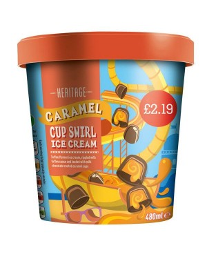 Heritage Caramel Swirl Ice Cream PM£2.19 (6x480 ML)