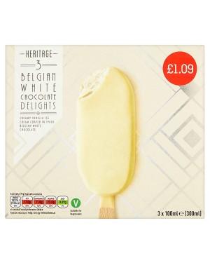 M3 Distribution Services Irish Food Wholesale Heritage Belgian White Choc Delight PMÃ'Ãâ€Å