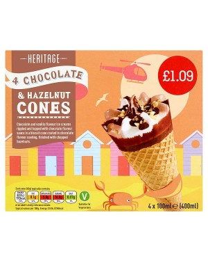 M3 Distribution Services Irish Food Wholesale Heritage Choc/Nut Cones PMÃ'ÂÃÆâ€