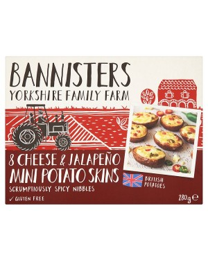 M3 Distribution Services Irish Food Wholesaler Bannisters Farm Mini Cheess &Jalapeno Skins (8x280g)