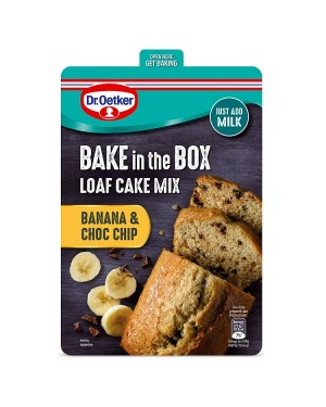 M3 Distribution Services Irish Food Wholesale Dr. Oetker Bake In the Box - Banana & Choc Chip Loaf Cake Mix