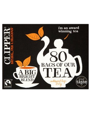 M3 Distribution Services Irish Food Wholesale Clipper Fairtrade Tea Bags (80)