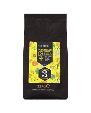 M3 Distribution Services Irish Food Wholesale Heritage Colombian Roast & Ground Coffee 227g