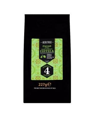 M3 Distribution Services Irish Food Wholesale Heritage Italian Roast & Ground Coffee 227g