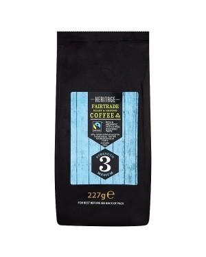 M3 Distribution Services Irish Food Wholesale Heritage Fairtrade Roast & Ground Coffee 227g