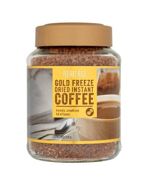 M3 Distribution Services Irish Food Wholesale Heritage Gold Freeze Dried Instant Coffee 100g