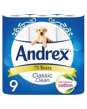 M3 Distribution Services Irish Food Wholesaler Andrex Classic Clean Toilet Tissue (5x9Rolls)