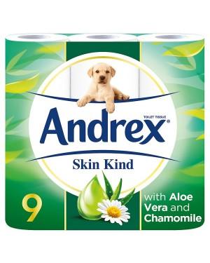 M3 Distribution Services Irish Food Wholesaler Andrex Skin Kind Toilet Tissue (6x9Rolls)