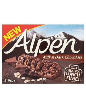 M3 Distribution Services Irish Food Wholesaler Alpen Milk & Dark Chocolate Bars 5pack