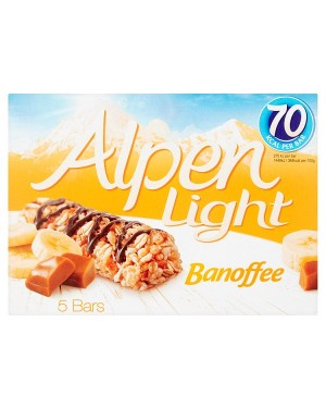 M3 Distribution Services Irish Food Wholesaler Alpen Light Banoffee Bars 5pack