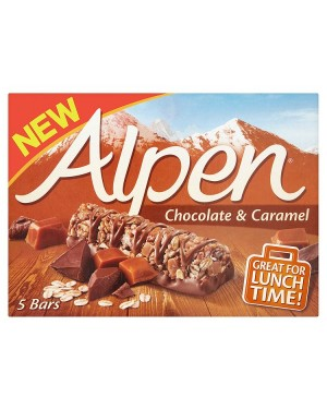 M3 Distribution Services Irish Food Wholesaler Alpen Chocolate & Caramel Bars 5pack