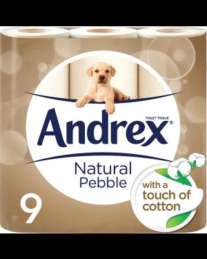 M3 Distribution Services Irish Food Wholesaler Andrex Toilet Tissue Natural (5x9Rolls)