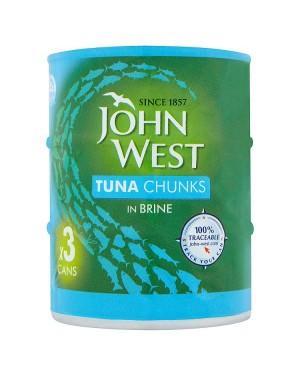 M3 Distribution Services Irish Food Wholesaler John West Tuna Chunks in Brine (12x3x145g)