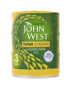 M3 Distribution Services Irish Food Wholesaler John West Tuna Chunks in Oil (12x3x145g)