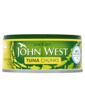 M3 Distribution Services Irish Food Wholesaler John West Tuna Chunks in Oil (12x145g)