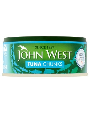 M3 Distribution Services Irish Food Wholesaler John West Tuna Chunks in Brine (12x145g)