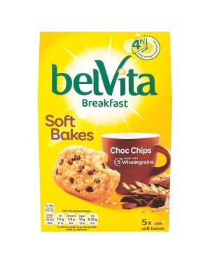 M3 Distribution Services Irish Food Wholesaler Belvita Breakfast Soft Bakes - Choc Chips 5pack