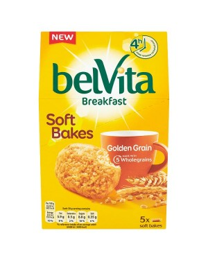 M3 Distribution Services Irish Food Wholesaler Belvita Breakfast Soft Bakes - Golden Grain 5pack