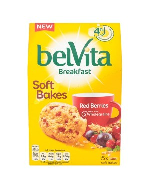M3 Distribution Services Irish Food Wholesaler Belvita Breakfast Soft Bakes - Red Berries 5pack