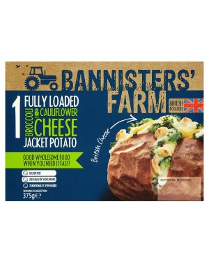 M3 Distribution Bannisters' Farm Fully Loaded Broccoli and Cauliflower Cheese Jacket Potato