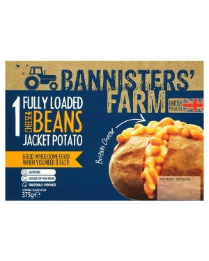 M3 Distribution Bannisters' Farm Fully Loaded Cheese and Beans Jacket Potato
