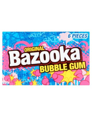 M3 Distribution Services Bulk Food Wholesale Bazooka Original Bubble Gum 6 Pieces