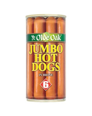 M3 Distribution Services Bulk Food Wholesale Ye Olde Oak 6 Jumbo Hotdogs