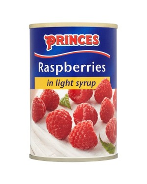M3 Distribution Services, Food Wholesale Ireland Princes Raspberries in Syrup 420g