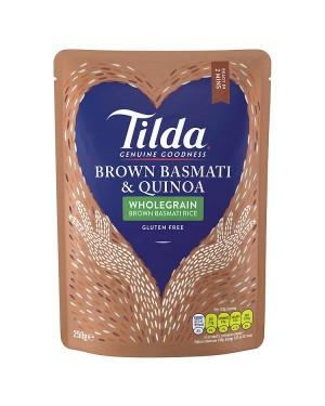 M3 Distribution Services Irish Food Wholesaler Tilda Brown Basmati & Quinoa (6x250g)