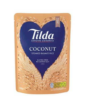 M3 Distribution Services Irish Food Wholesaler Tilda Coconut Steamed Rice (6x250g)