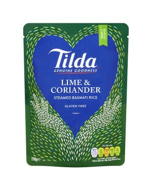 M3 Distribution Services Irish Food Wholesaler Tilda Lime & Corinader Steamed Rice (6x250g)