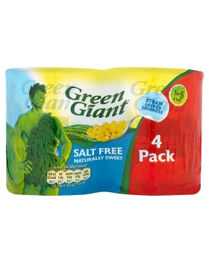 Green Giant Salt Free Corn 4pack (6x4X198 G )