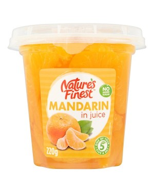 M3 Distribution Services, Food Wholesale Ireland Natures Finest Mandarin in Juice 220g