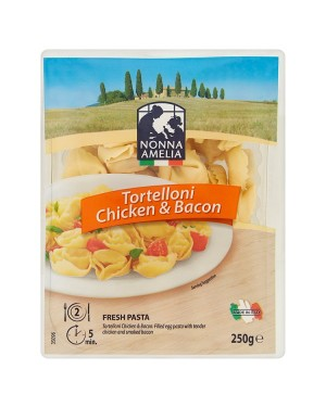 M3 Distribution Services Wholesale Food Nonna Amelia Tortelloni Chicken & Bacon 250g