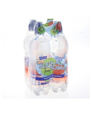 M3 Distribution Services Irish Food Wholesaler Aqua Roma Strawberry & Kiwi 4pack PM£1 (6x4x500ml)