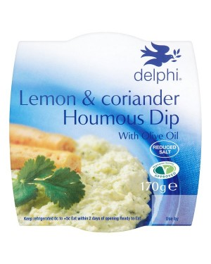 M3 Distribution Services Delphi Lemon & Corriander Houmous Dip 170g
