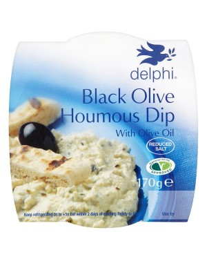 M3 Distribution Services Delphi Fresh Black Olive Houmous Dip 170g